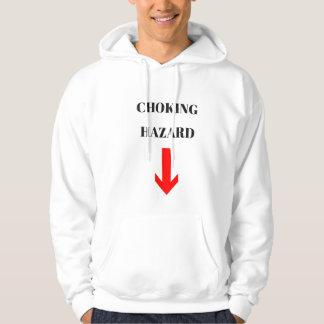 Men's Humor Choking Hazard Fleece Sweatshirt