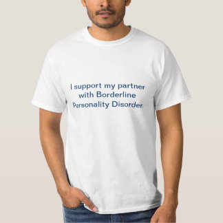 "Men's ""I support my partner with BPD"" T-Shirt"