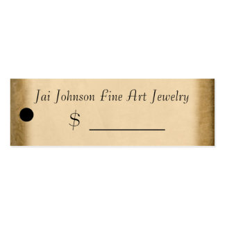Merchandise Price Tags (Gold) Pack Of Skinny Business Cards