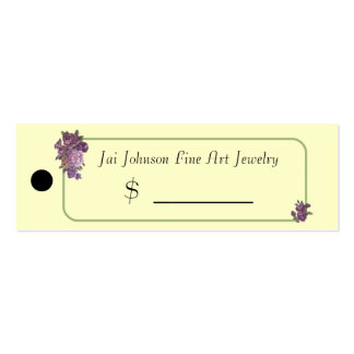 Merchandise Price Tags (Purple Flowers) Pack Of Skinny Business Cards