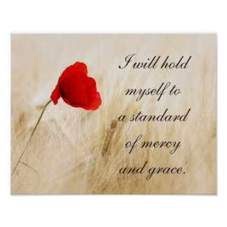 Mercy and Grace Frameable Poster