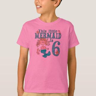 Mermaid 6th Birthday Tee Shirts