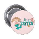 Mermaid Big Sister 6 Cm Round Badge