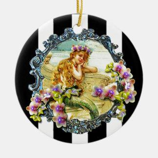 MERMAID ORCHID PRINTABLE.jpg Round Ceramic Decoration