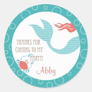 Mermaid Party  |  Favor Sticker
