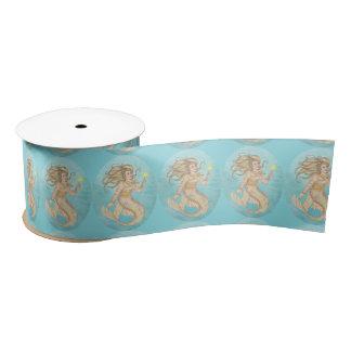 Mermaid Sea Queen Fantasy Add Bg Color Satin Ribbon