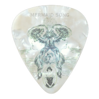 Mermaid Song Sea Green Ocean Blue Love Romance ADD Pearl Celluloid Guitar Pick