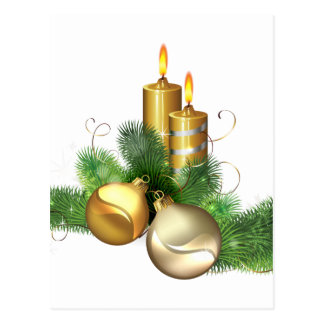 Merry and Bright Candles Postcard