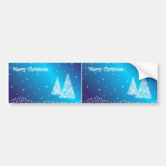 merry christmas blue bumper sticker