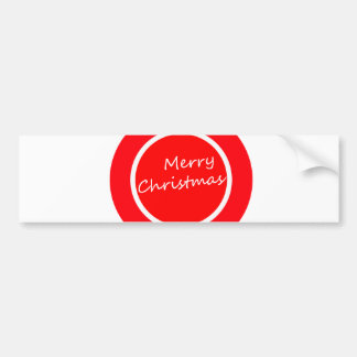 Merry Christmas (Bumper Sticker) Bumper Sticker