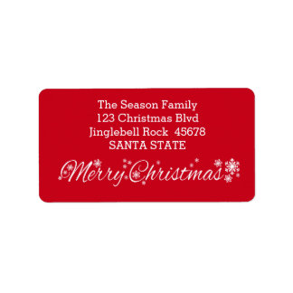 Merry Christmas Classic Address Label