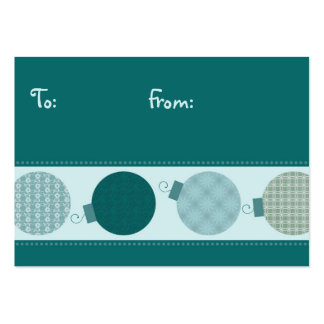 Merry Christmas Decorations Gift Tags Pack Of Chubby Business Cards