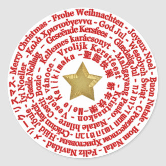 Merry Christmas Different Languages Sticker