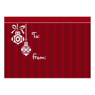 Merry Christmas Red White Decorations Gift Tags Pack Of Chubby Business Cards