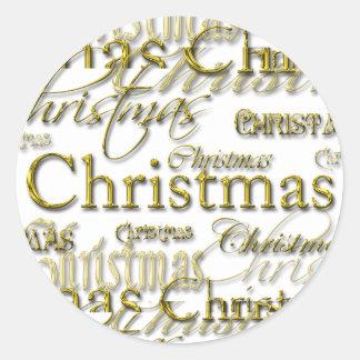 Merry Christmas Season Envelope Seals Round Sticker