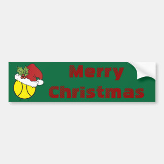 Merry Christmas Tennis Bumper Sticker