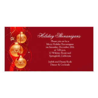Merry Holiday Christmas Shenanigans Personalized Photo Card
