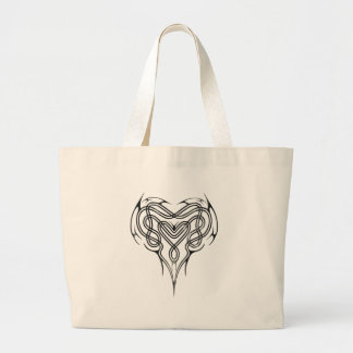 Metal Celtic Heart Knot Jumbo Tote Bag