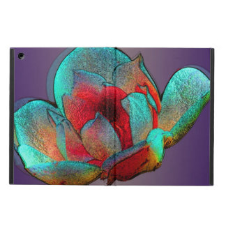Metallic magnolia in blue and red iPad air case