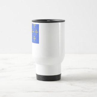Meuse flag stainless steel travel mug