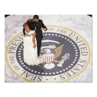 Michelle and Barack Obama 11 Cm X 14 Cm Invitation Card