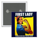 Michelle Obama Rosie the Riveter 15 Cm Square Badge