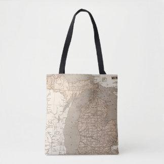 Michigan Atlas Map Tote Bag