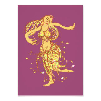 Middle eastern party - belly dancer 13 cm x 18 cm invitation card