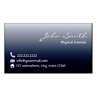 Midnight Blue Physical Scientist Business Card