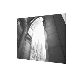Milano Italy, Galleria View of the Duomo Stretched Canvas Print