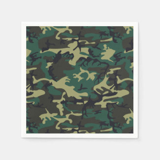 Military Camouflage Paper Napkin