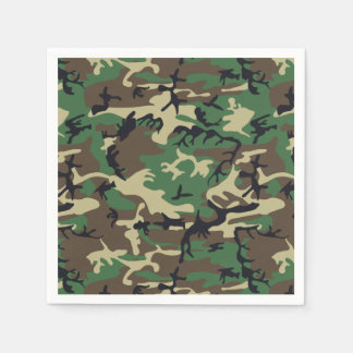 Military Camouflage Paper Napkins
