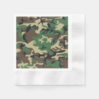 Military Camouflage Paper Serviettes