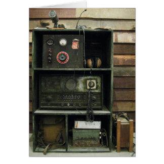 Military Comms Vintage Radio Equipment Greeting Card