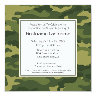 Military Graduation or Commissioning Party 13 Cm X 13 Cm Square Invitation Card