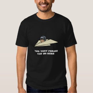 Military Pilot Flying Funny Paper Airplane Jet Tee Shirt