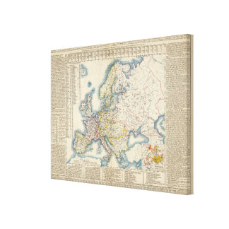 Military Political Map of Europe Gallery Wrap Canvas