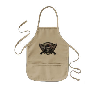 Military Skull With Crossed Gun Special Warfare Kids Apron