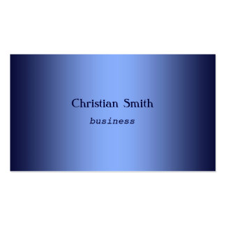 Minimal and  modern blue Business Card