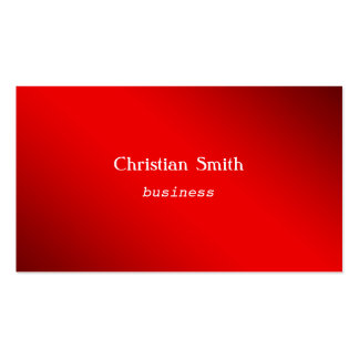 Minimal and  modern red Business Card