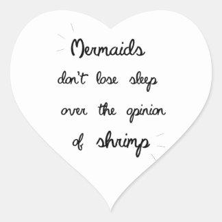 Minimal Mermaid Quote Heart Sticker