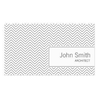 Minimal Thin Zigzag Architect Business Card