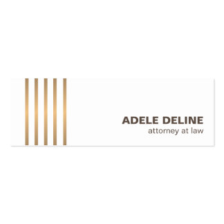 Minimalist Chic Clean Copper Lines Attorney Pack Of Skinny Business Cards