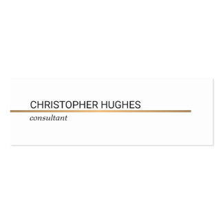 Minimalist Elegant Copper Line Attorney Pack Of Skinny Business Cards