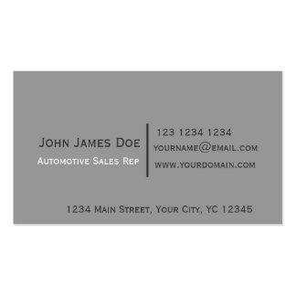 Minimalist Sagacity Classic Black Gray Modern Pack Of Standard Business Cards