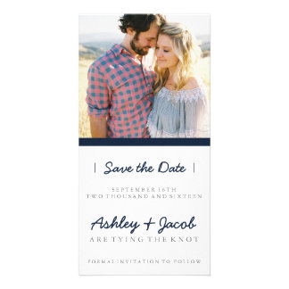 Minimalist Save the Date| WEDDINGS Photo Card Template