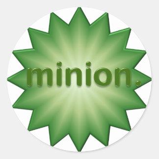 Minion Round Sticker