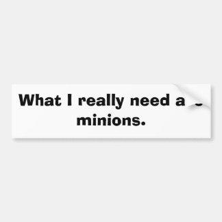 Minions Bumper Sticker