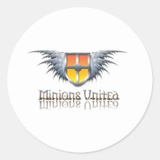 Minions United Round Sticker
