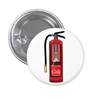 Mint Diet Cola Soda Fire Extinguisher 3 Cm Round Badge